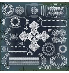 Set of baroque ornaments vector