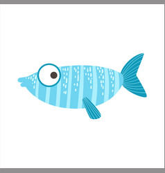 Silly stripy blue and light blue fantastic vector