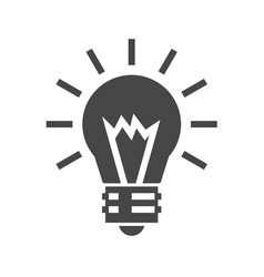 bulb flat icon vector image