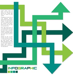 Arrow infographics vector