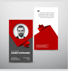 Modern simple business card template vector