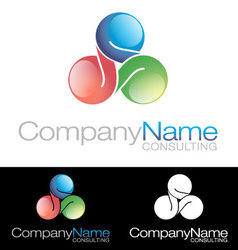 Social media community company icon logo vector