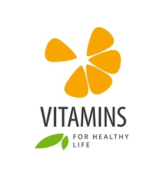 Logo in orange slice vitamins vector