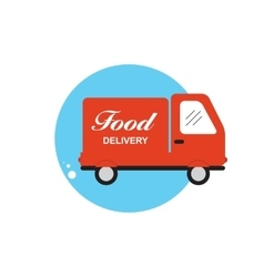 Icon with Flat Graphics Element of Food Delivery vector image