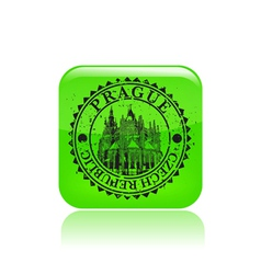 Prague stamp grunge vector