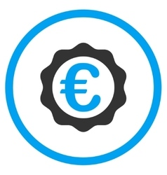 Euro award seal rounded icon vector