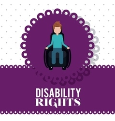 Disability rights design vector