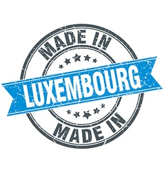 Made in luxembourg blue round vintage stamp vector