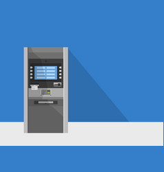 atm machine in bank or office vector image