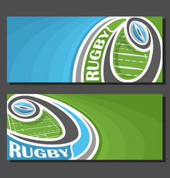 Banners for rugby vector