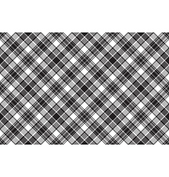 Black diagonal check fabric seamless background vector
