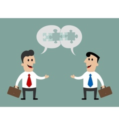 Businessmen meeting and talking about cooperation vector image vector image
