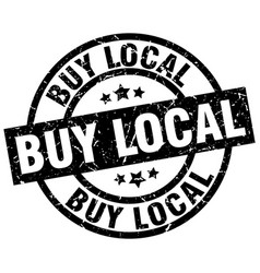 Buy local round grunge black stamp vector