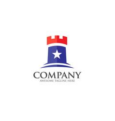 castle logo concept vector image vector image