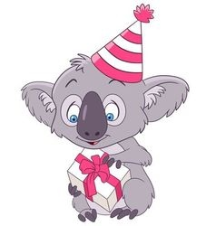 cute and happy cartoon koala vector image vector image
