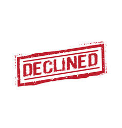 Declined stamp sign vector