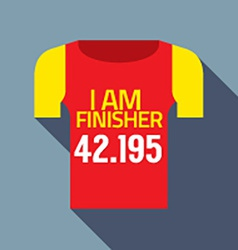 Finisher Tee Of Marathon Runner vector image vector image