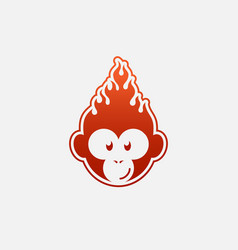 Fire monkey vector