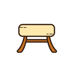 Flat color chair icon vector