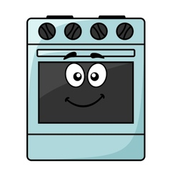Fun kitchen appliance - a happy oven vector