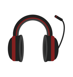 headphones music technology accessory icon vector image