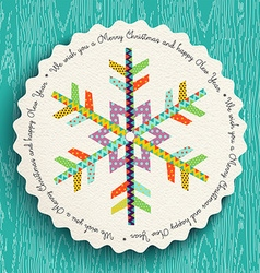 Merry christmas and new year fun snowflake design vector
