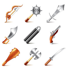 Old weapons for game vector