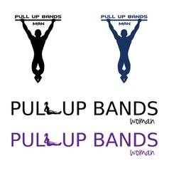 Pull up bands vector