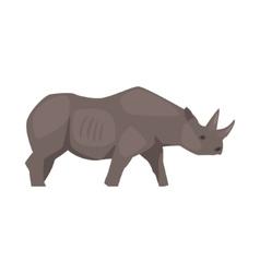 Rhinoceros realistic simplified drawing vector