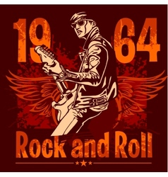 Rock and Roll Design - poster vector image vector image