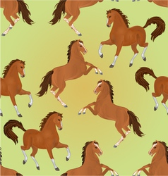 Seamless texture brown horses exteriors vector