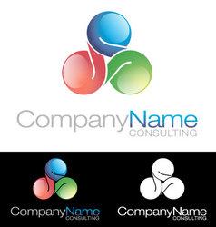 Social media community Company icon logo vector image vector image