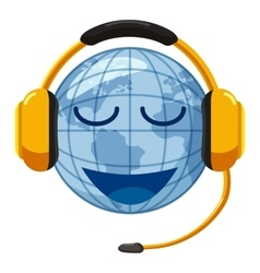 Translate world icon cartoon style vector image