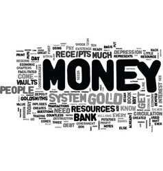 Where does money come from text word cloud concept vector