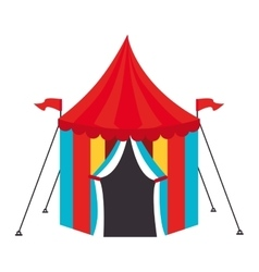 Circus carnival tent icon vector