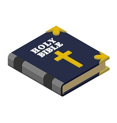 Holy bible isometrics religious book new testament vector