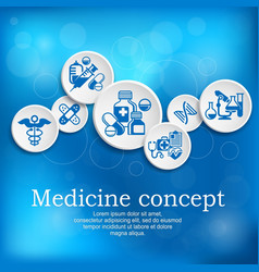 Medical concept medicine vector