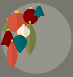 Flat design abstract christmas decorations vector