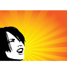 shouting female vector image