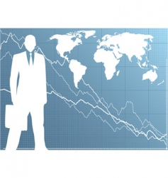 business man vector image