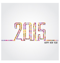 Creative happy new year 2015 text design vector