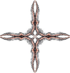Cross of fractal 1 vector