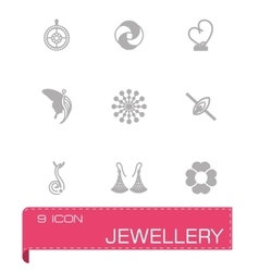 Jewellery icon set vector image
