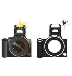 Camera on white vector