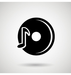 Dj icon design vector