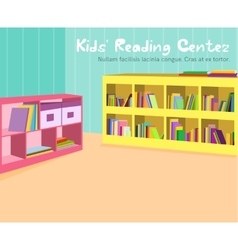 Kids reading room vector
