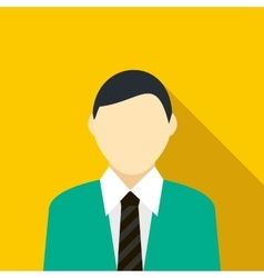 Man in the green suit icon flat style vector image