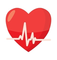 Heartbeat icon in cartoon style vector