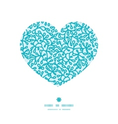 Abstract underwater plants heart silhouette vector