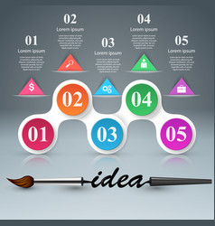 brush idea icon business infographics vector image vector image